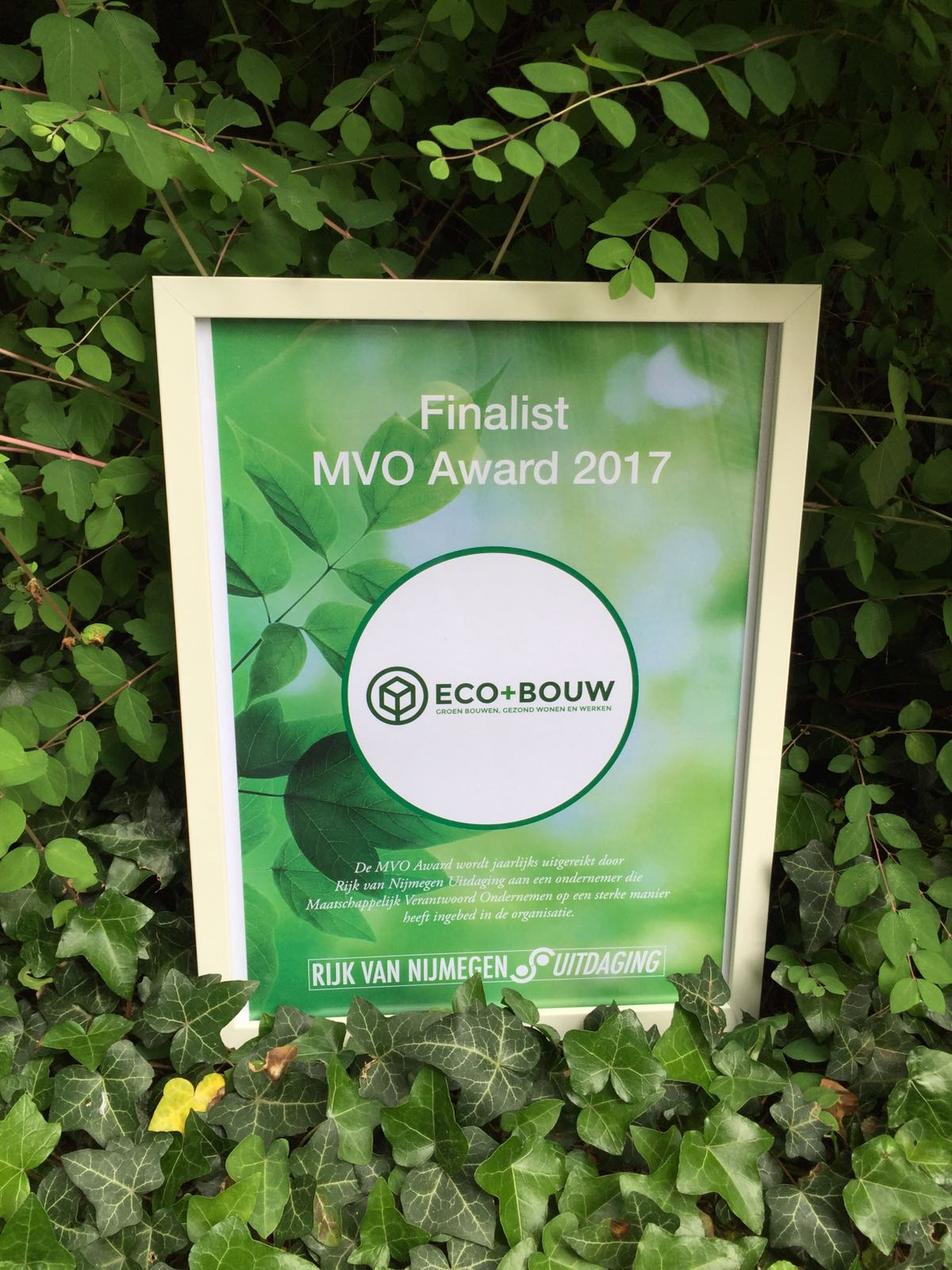 Eco+Bouw MVO award 2